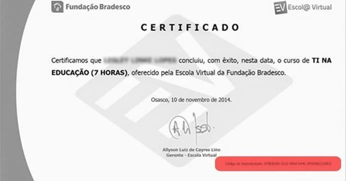 certificado dos cursos online do bradesco