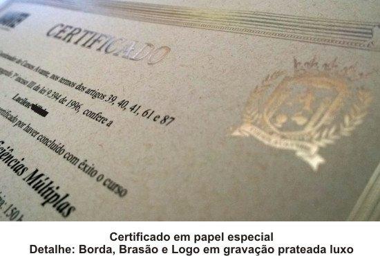 certificado impresso do cursos avante